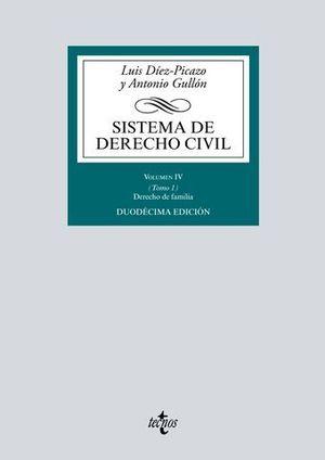 SISTEMA DE DERECHO CIVIL VOLUMEN IV TOMO 1 DERECHO DE FAMILIA