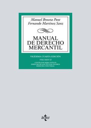 MANUAL DE DERECHO MERCANTIL VOLUMEN II 24ª ED. 2017