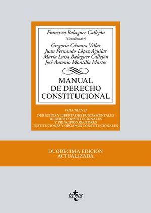 MANUAL DE DERECHO CONSTITUCIONAL VOLUMEN II 12º ED. 2017
