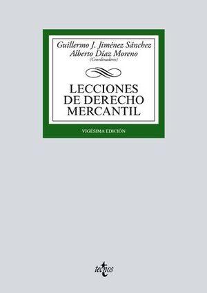 LECCIONES DE DERECHO MERCANTIL 20ª ED. 2017