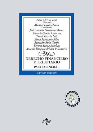 DERECHO FINANCIERO Y TRIBUTARIO PARTE GENERAL