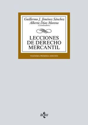LECCIONES DE DERECHO MERCANTIL ED. 2018