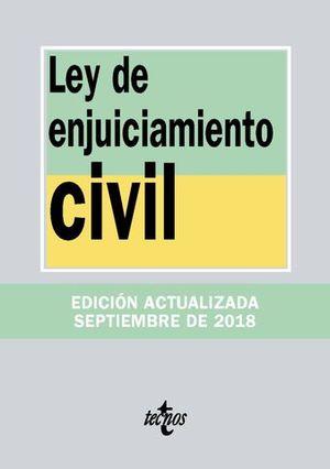 LEY DE ENJUICIAMIENTO CIVIL 2018