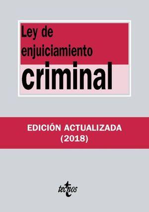 LEY DE ENJUICIAMIENTO CRIMINAL 2018