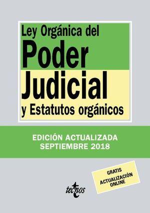 LEY ORGANICA DEL PODER JUDICIAL Y ESTATUTOS ORGANICOS 2018