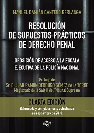 RESOLUCION DE SUPUESTOS PRACTICOS DE DERECHO PENAL ED. 2018