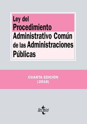 LEY PROCEDIMIENTO ADMINSTRATIVO COMUN ED.2018