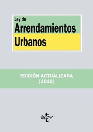 LEY DE ARRENDAMIENTOS URBANOS ED. 2019