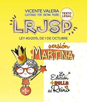 LRJSP VERSIÓN MARTINA LEY 40/2015 REGIMEN JURIDICO SECTOR PUBLICO