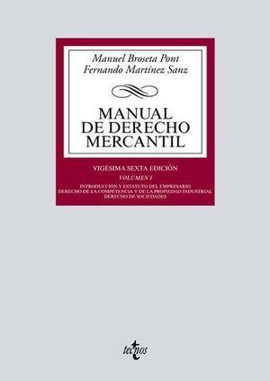 MANUAL DE DERECHO MERCANTIL  VOL. 1