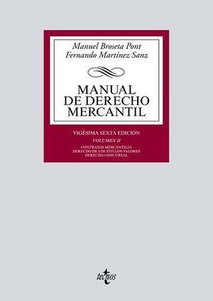 MANUAL DE DERECHO MERCANTIL VOL. 2