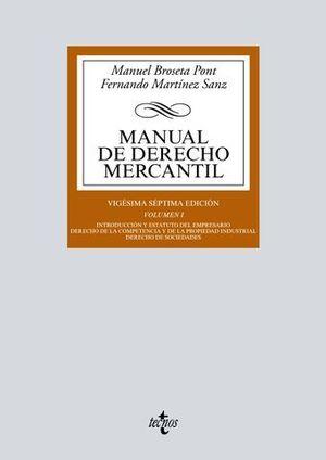 MANUAL DE DERECHO MERCANTIL  VOL 1