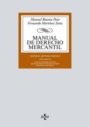 MANUAL DE DERECHO MERCANTIL VOL 2