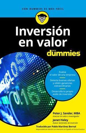INVERSION EN VALORES PARA DUMMIES