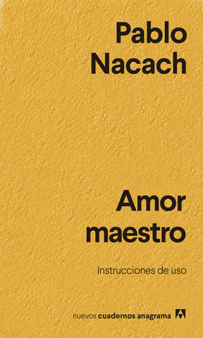 AMOR MAESTRO. INSTRUCCIONES DE USO