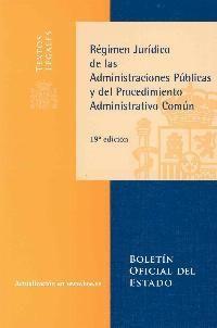 REGIMEN JURIDICO ADMINISTRACIONES PUBLICAS 19ª ED. 2010