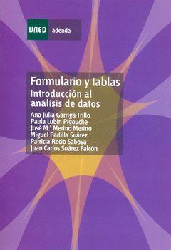 FORMULARIO Y TABLAS INTRODUCCION AL ANALISIS DE DATOS