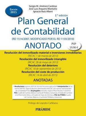 PLAN GENERAL DE CONTABILIDAD ANOTADO 2ª ED. 2015