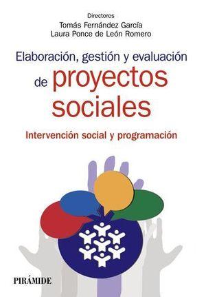 ELABORACION, GESTION Y EVALUACION DE PROYECTOS SOCIALES