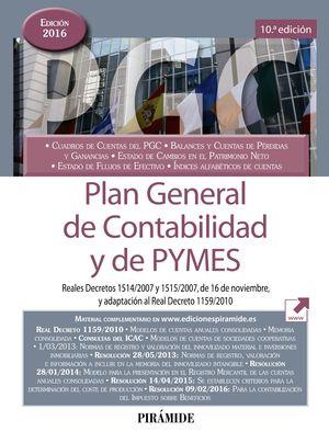 PLAN GENERAL DE CONTABILIDAD Y DE PYMES ED. 2016