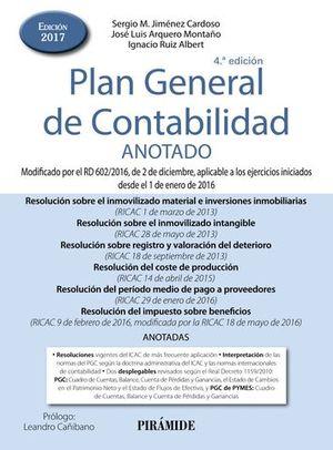 PLAN GENERAL DE CONTABILIDAD ANOTADO ED. 2017
