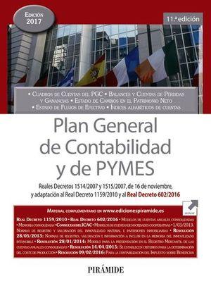 PLAN GENERAL DE CONTABILIDAD Y DE PYMES ED. 2017