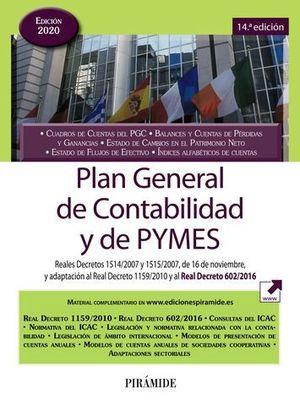 PLAN GENERAL DE CONTABILIDAD Y DE PYMES ED.2020
