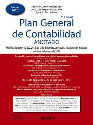 PLAN GENERAL DE CONTABILIDAD ANOTADO ED.2020
