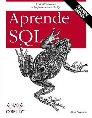 APRENDE SQL 2ª ED. 2009