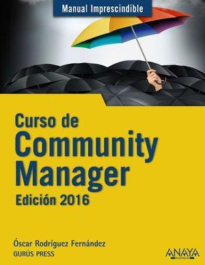 CURSO DE COMMUNITY MANAGER ED. 2016
