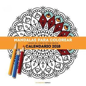 CALENDARIO MANDALAS PARA COLOREAR 2018