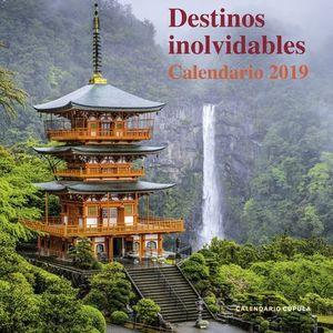 CALENDARIO DESTINOS INOLVIDABLES 2019