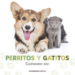 CALENDARIO PERRITOS Y GATITOS 2021.