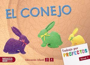 POR PROYECTO NIVEL 1 EL CONEJO ED. 2015