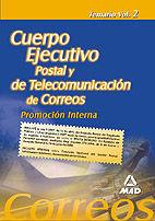 TEMARIO VOL 2 CUERPO EJECUTIVO POSTAL Y DE TELECOMUNICACION DE CORREOS