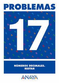 PROBLEMAS 17. NUMEROS DECIMALES. RESTAR