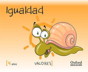 VALORES 4 AÑOS IGUALDAD ED. 2014