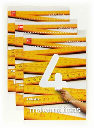 MATEMATICAS CONECTA 2.0 TRIMESTRAL 4º PRIMARIA