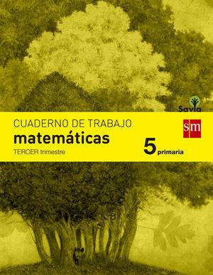CUADERNO MATEMATICAS 5º EP  3º TRIMESTRE SAVIA 2014