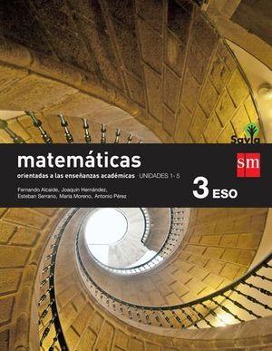 MATEMATICAS 3º ESO ACADEMICAS TRIMESTRAL SAVIA ED. 2015