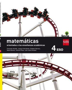 MATEMATICAS B 4º ESO ACADEMICAS SAVIA ED. 2016