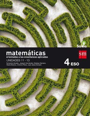MATEMATICAS A 4º ESO APLICADAS TRIMESTRAL SAVIA ED. 2016