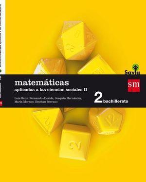 MATEMATICAS 2º BACHILLER APLICADAS CC SS SAVIA 2016