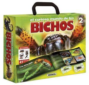 EL CURIOSO MUNDO DE LOS BICHOS.  INCLUYE 2 INSECTOS REALES