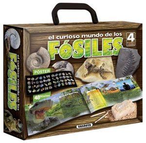 EL CURIOSO MUNDO DE LOS FOSILES.  INCLUYE 4 FOSILES