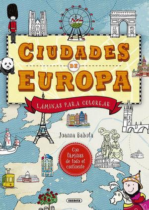 CIUDADES DE EUROPA.  LAMINAS PARA COLOREAR