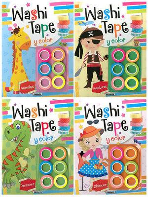 WASHI TAPE Y COLOR ( 4 TITULOS )