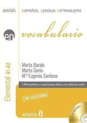 VOCABULARIO ELEMENTAL A1-A2 CON SOLUCIONES