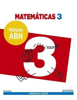 MATEMATICAS 3º EP APRENDER ES CRECER METODO ABN