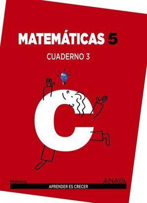 CUADERNO MATEMATICAS 5º PRIMARIA Nº 3 APRENDER ES CRECER